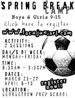 SOCCER SPRING BREAK CAMP