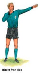 Ref's signal:direct free kick
