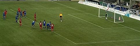 The proper player's position before the panalty kick is taken